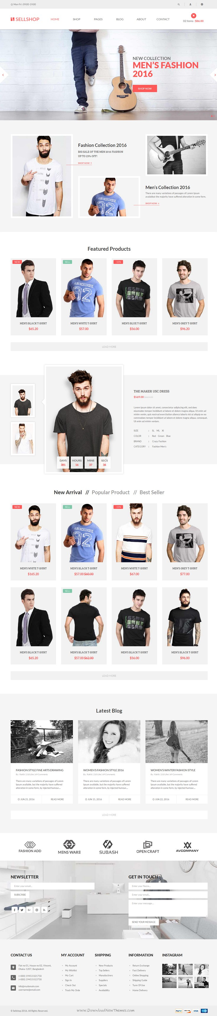 Sell Shop is a clean and elegant design Bootstrap HTML5 #template for multipurpose #eCommerce #website. Download Now!