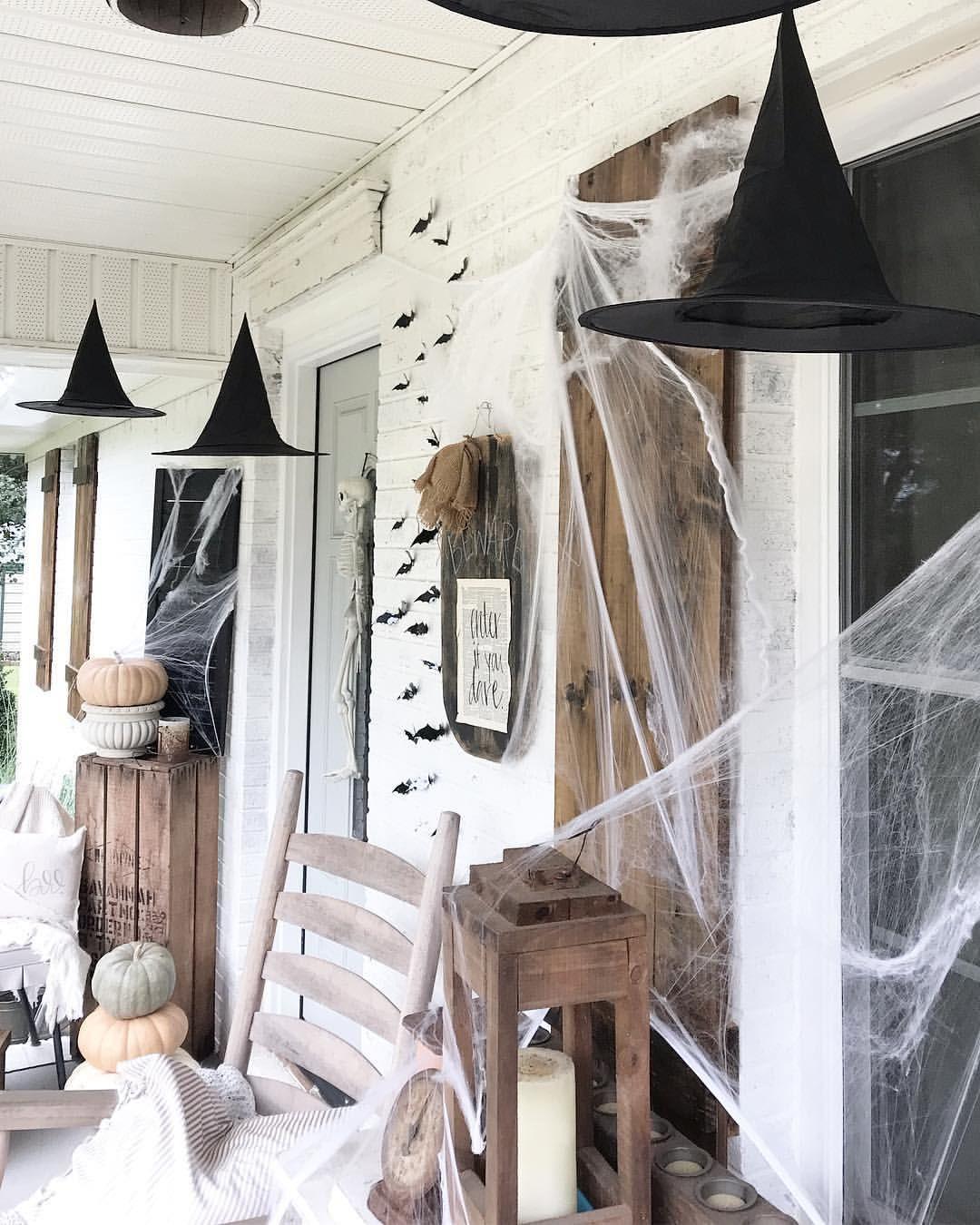 Halloween front porch halloween halloweendecor october
