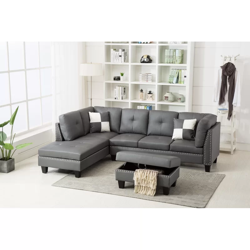 Enjoyable Junia Sectional With Ottoman Other Optional Couches Spiritservingveterans Wood Chair Design Ideas Spiritservingveteransorg
