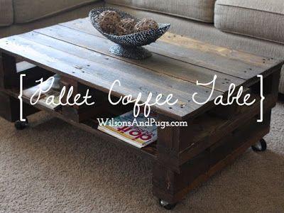 Pallet Coffee Table Voor Het Huis