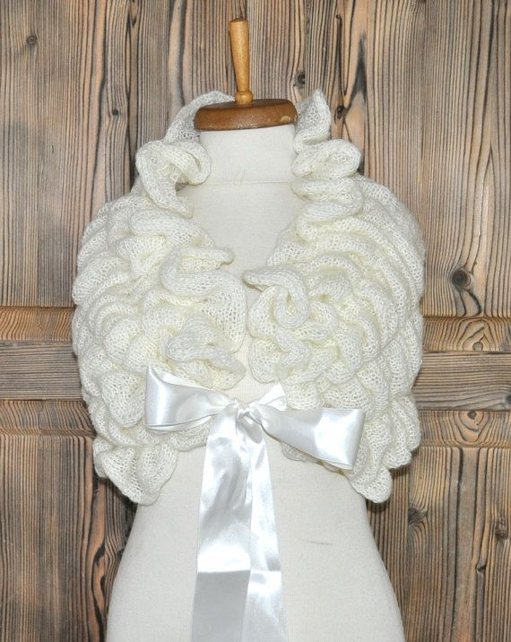 Wedding Shawl / Bride Bolero / Bridal Shawl / by DokumaAccessories, $85.00