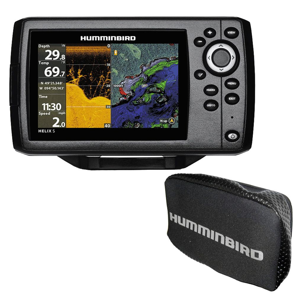 MEGA DI+ GPS Humminbird Helix 9 G3N CHO Fish Finder with Chirp and 9-Inch-Display