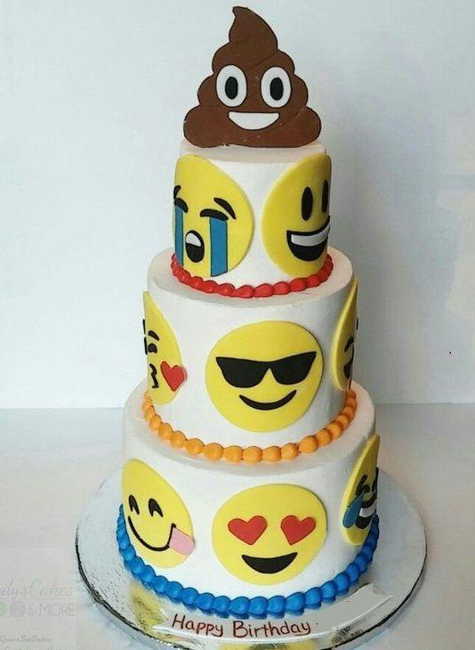 Pin By Yummy Cakesmmm On Social Media Cakes Emoji Cake Birthday