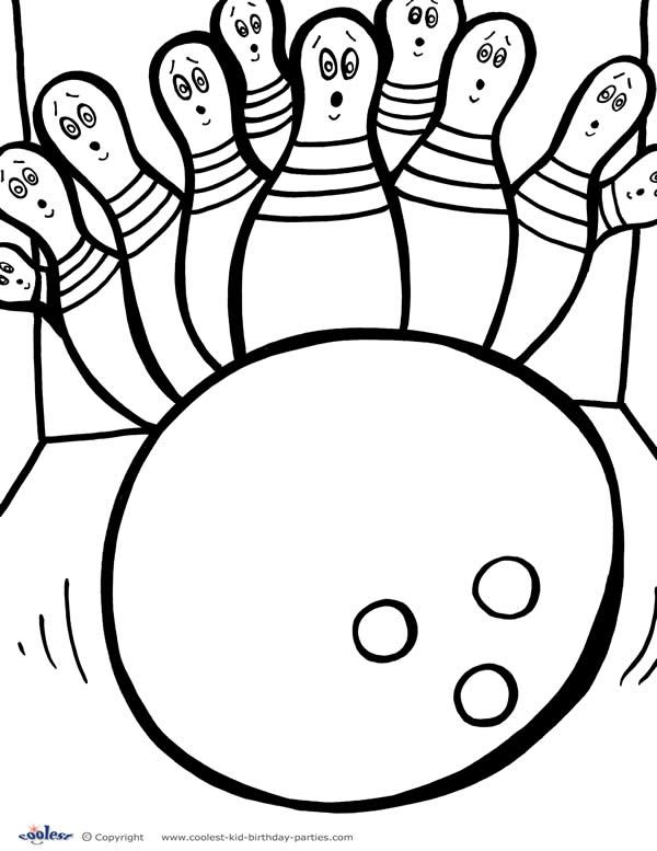 Printable Bowling Coloring Page 4 Coloring pages