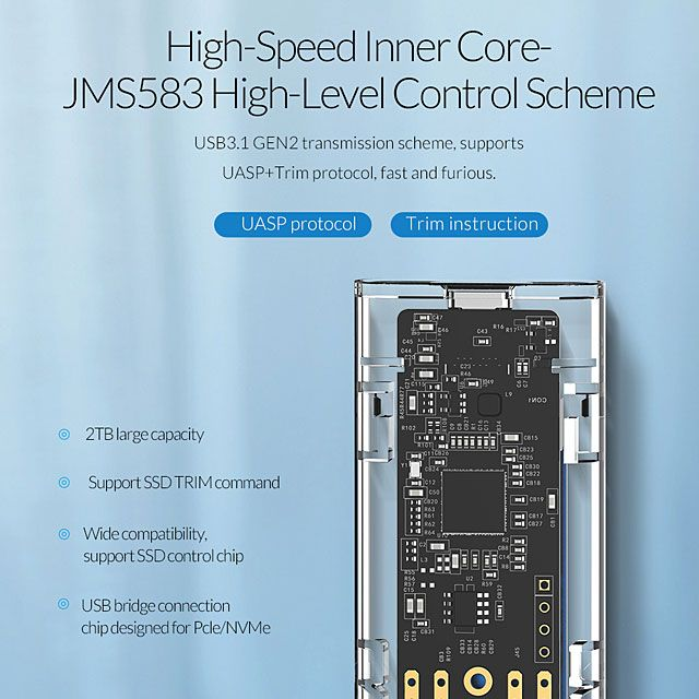ORICO NVMe M 2 SSD Enclosure (10Gbps) | USB in 2019 | Phone, Samsung