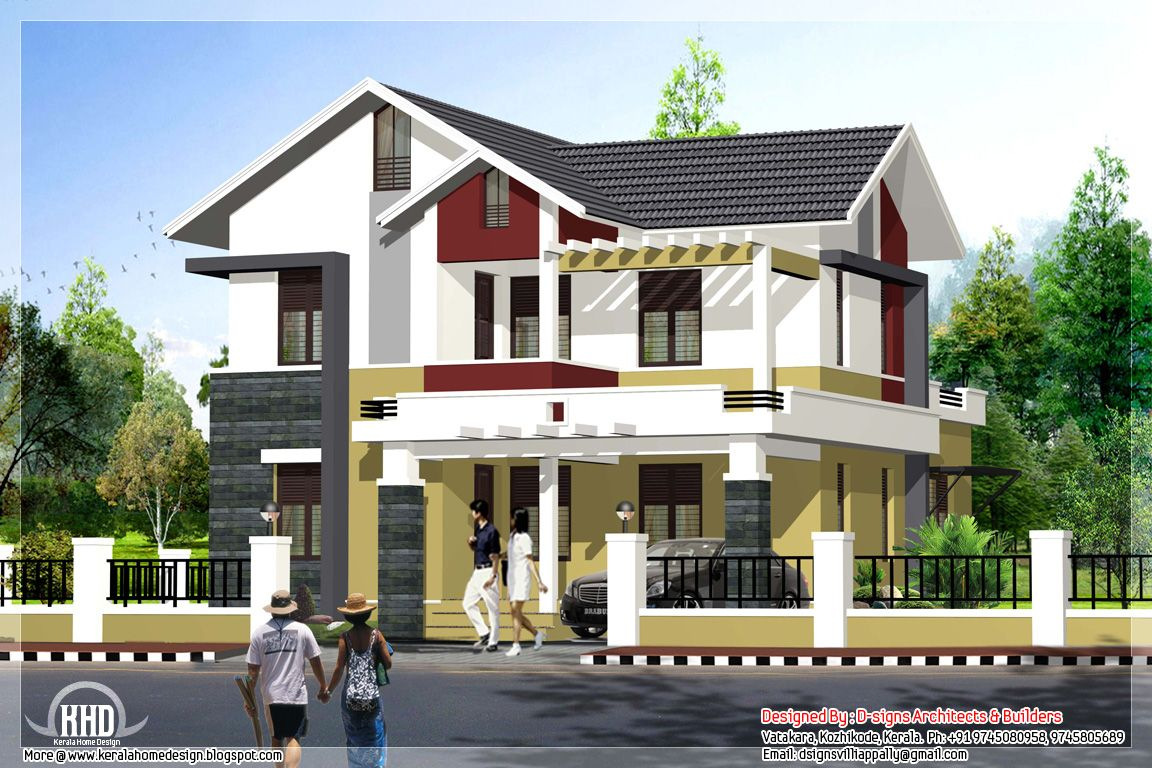 1995 sq ft simple budget indian home exterior design - Simple Housing Design