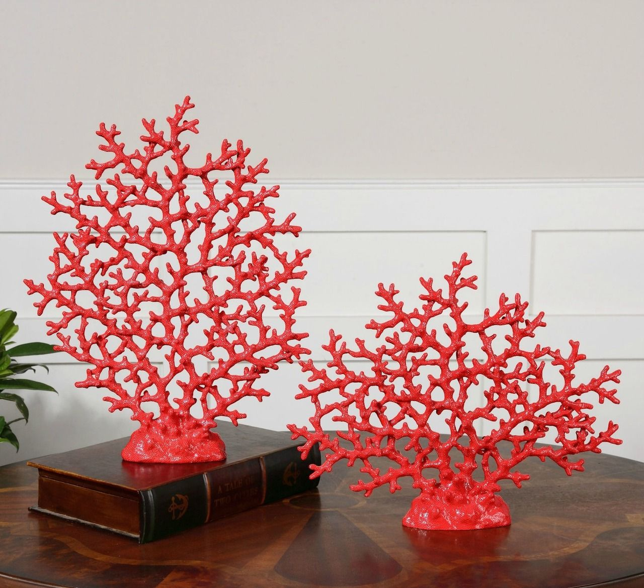 Red Coral Sculpture - Set of 2 | Shop Caron\'s Beach House ...