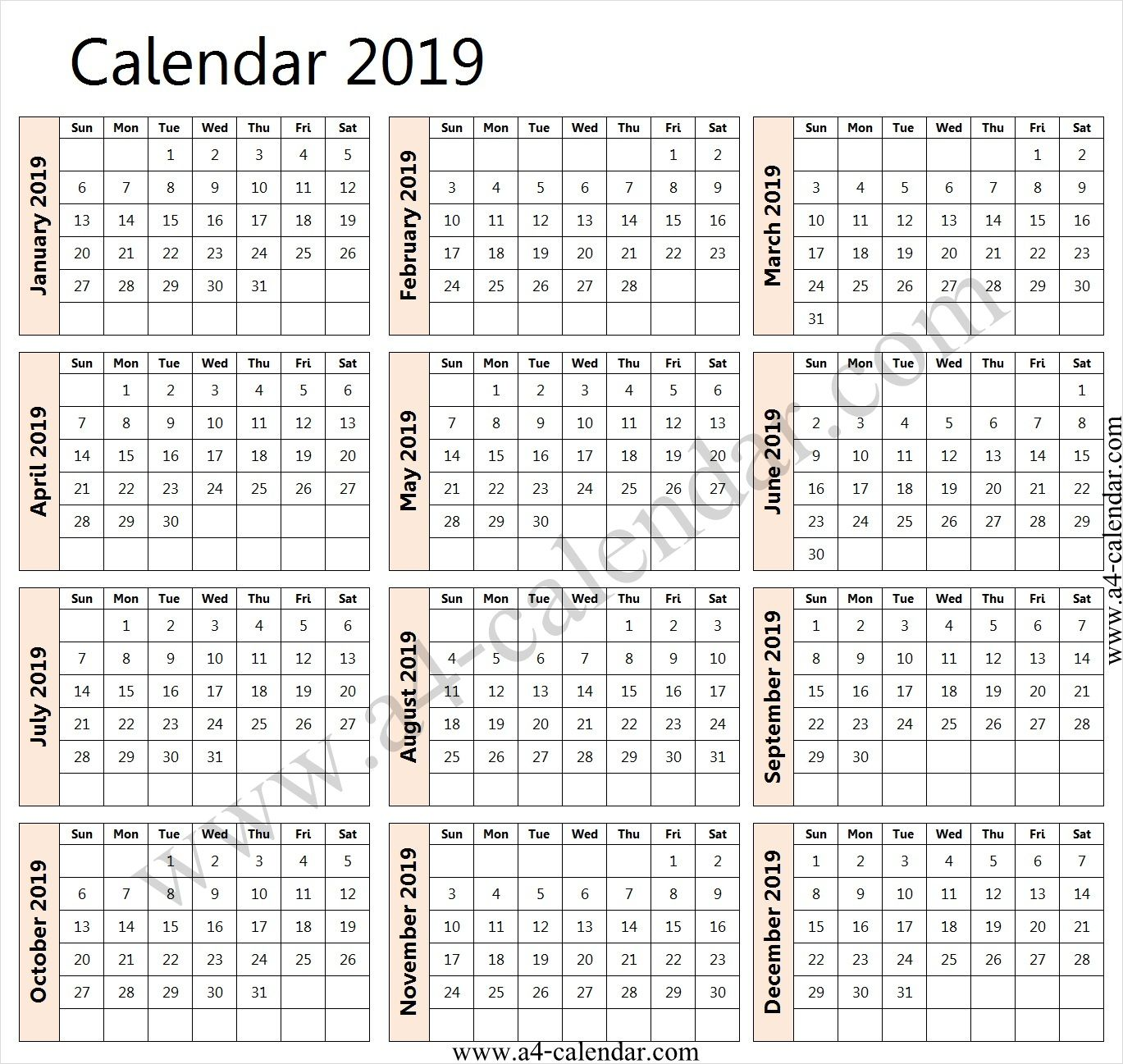 2019 Calendar Sheets Calendar With Week Numbers 2019 Calendar