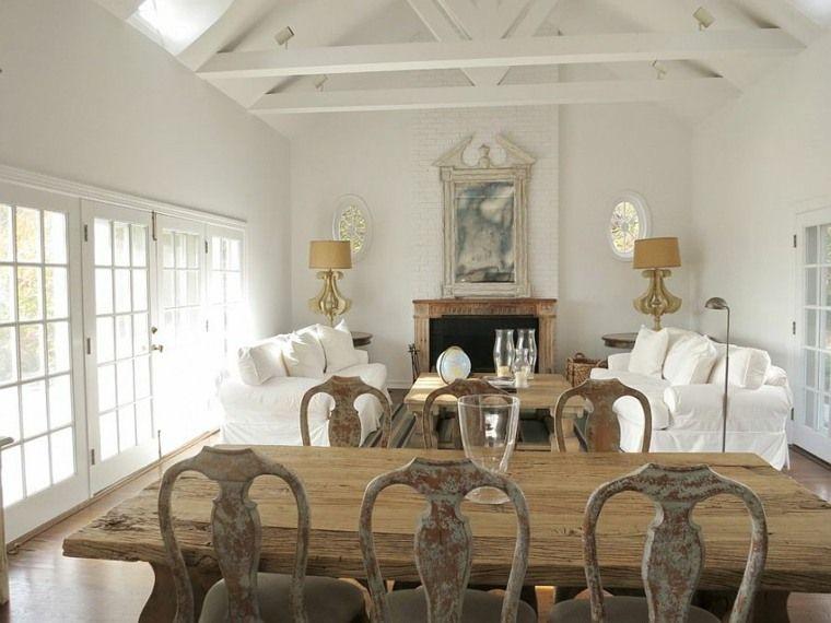 décoration-salle-de-séjour-vintage-shabby-chicjpg (760×570 - idee de deco salle a manger