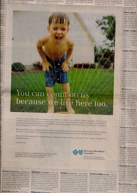 Blue Cross Blue Shield Assn Adv In Usa Today Healthcare Marketing Blue Shield Blue Cross