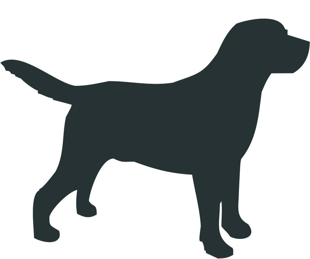Photo of Labrador Retriever Silhouette | Lab Dog Silhouette