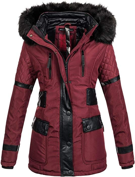 Geographical Norway Damen Winter Jacke Mantel gefüttert
