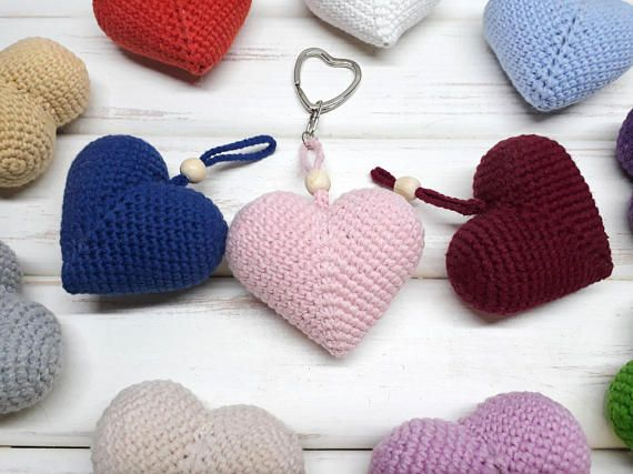 Valentines Heart Key Charm Car Gift For Her Valentines Coworker