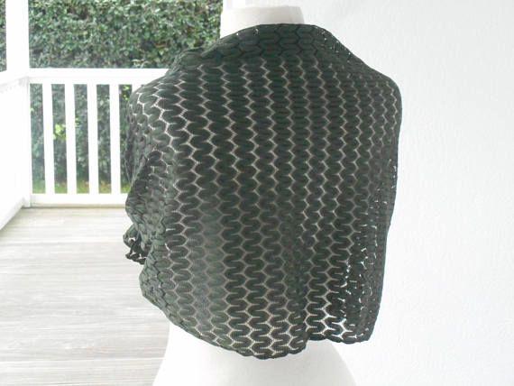 Etole écharpe foulard dentelle kaki femme lin eva 82601628fa1