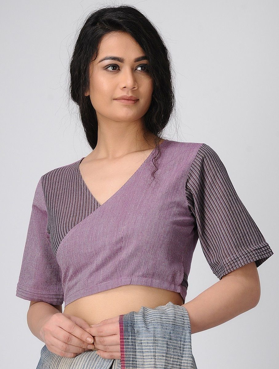 94bac940803ad Buy Purple Wrap Handloom Cotton Blouse Apparel Accessories Fabric   More  Online at Jaypore.com
