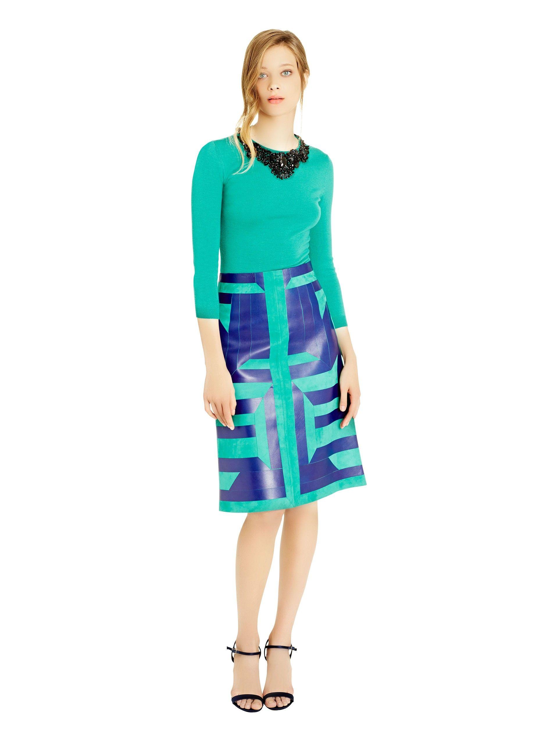 pretty modest outfit Oscar de la Renta - Bead Embroidered Peplum Pullover