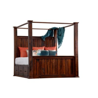 Barrs Mill King Canopy Bed With Storage Sawyer Lane Furniture Made In Usa  Builder128 Available At