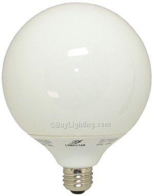 23 Watt G40 - 5 Inch Globe Compact Fluorescent 5000K Natural Daylight CFL