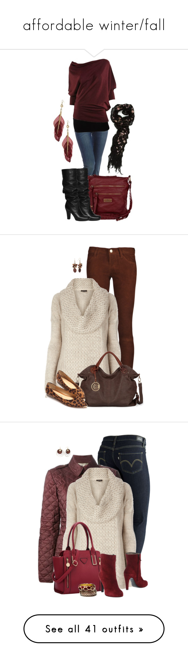 """""""affordable winter/fall"""" by lolo-umbarger ❤ liked on Polyvore featuring 7 For All Mankind, River Island, Unisa, Michael Kors, Max Studio, Current/Elliott, Sonoma life + style, Levi's, Burberry and New York Industrie"""