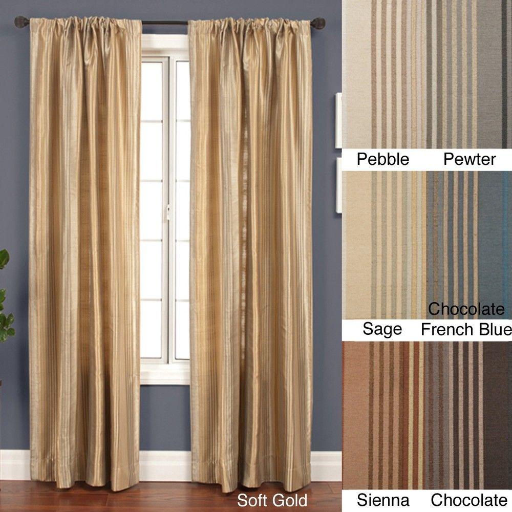 Jaipur Stripe Rod Pocket 84 Inch Curtain Panel 53 X 84