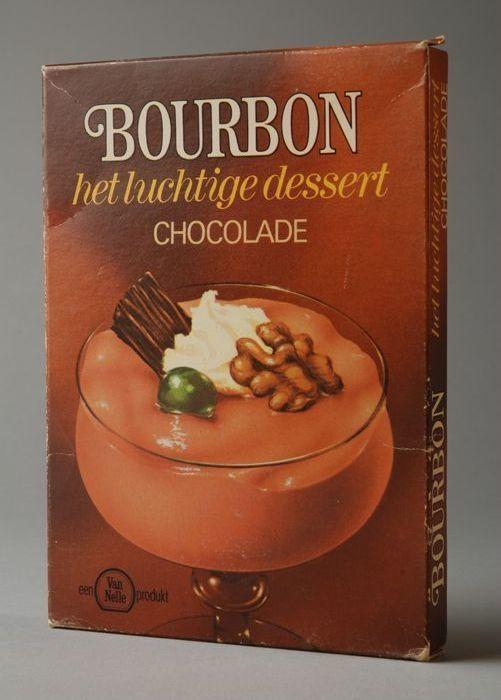 Bourbon pudding (Van Nelle)  Kijk voor meer merken op http://www.verdwenenmerken.nl