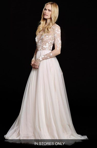Hayley Paige Remmington Embellished English Net Gown In Stores Only Nordstrom Grace Kelly Wedding Dress Hayley Paige Wedding Dress Net Gowns,Wedding Guest Party Dresses