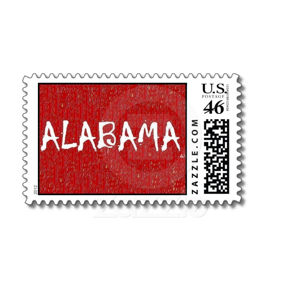 I love Alabama First Class Postage Stamp | Zazzle com