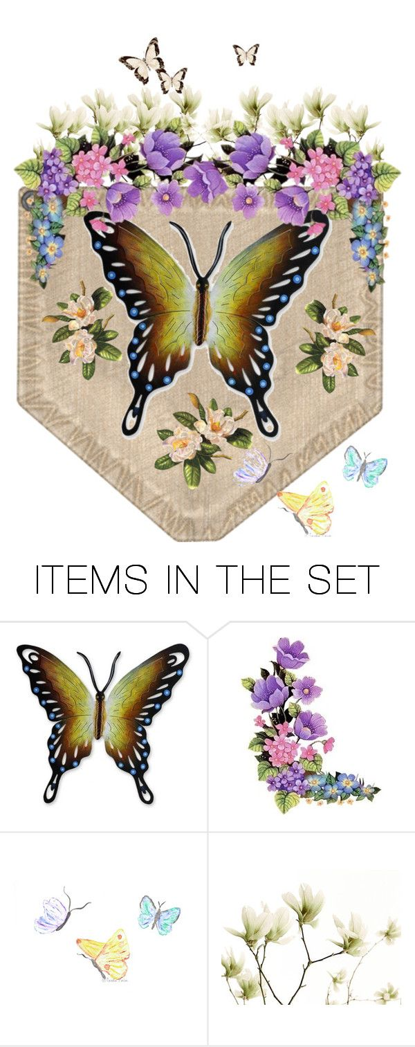 """""""Butterfly Pocket"""" by m-aviles-ma ❤ liked on Polyvore featuring art"""