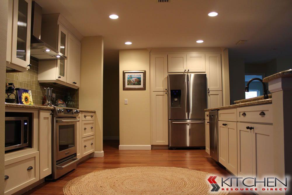 Best Built In Storage Around Refrigerator Deerfield Shaker Ii 400 x 300