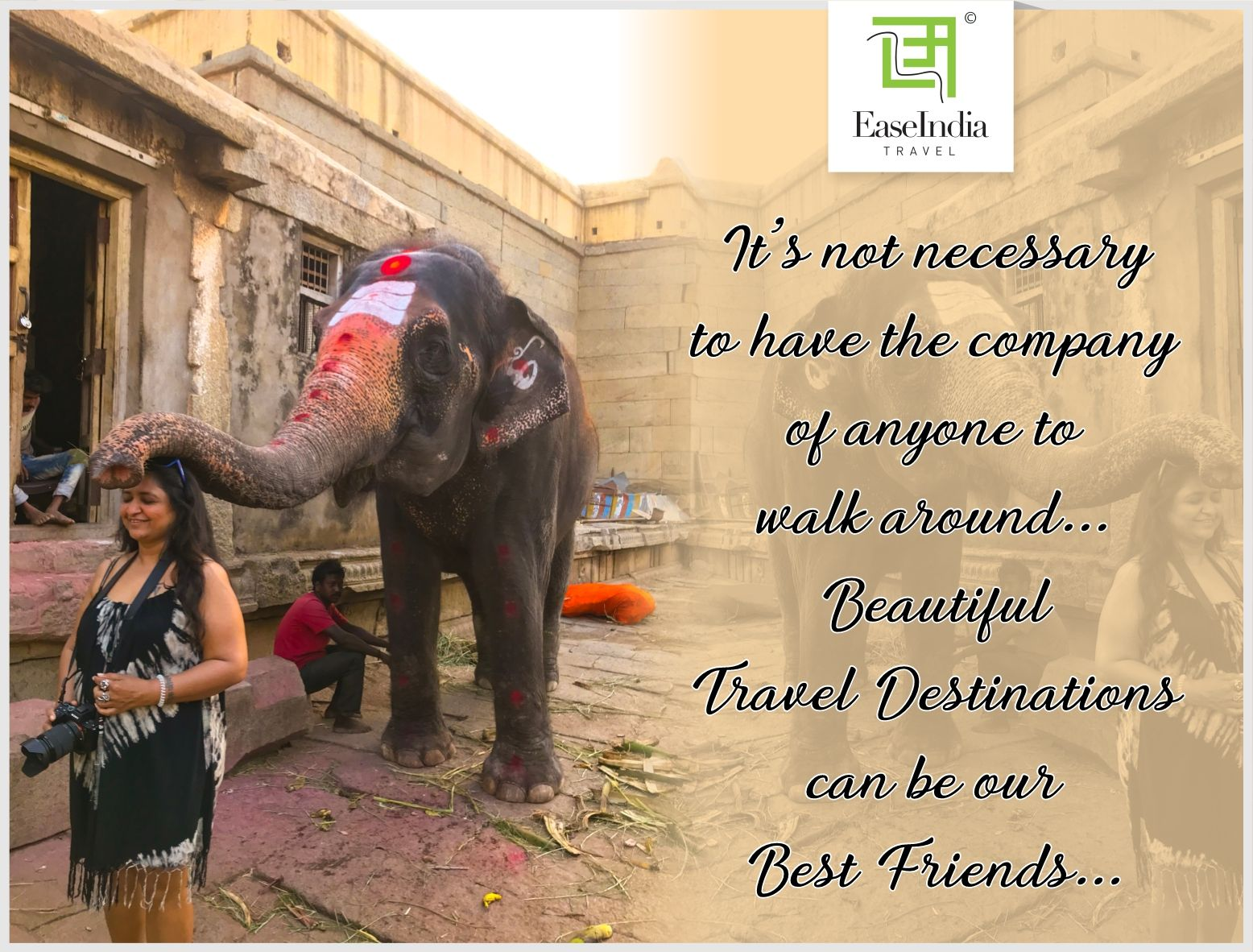 Travel destinations can be our best friends... Sometimes traveling solo can help us to connect with ourselves.   #wednesday #travelquotes #quotes #travel #wednesdaywisdom #humpday #easeindiatravel #experiencetravel #travelindustry #travelbug #traveller #travelholic #hampi #hampitourism #tourism #travelust #wanderlust #traveldestinations #destination #stayhomestaysafe #weareinthistogether