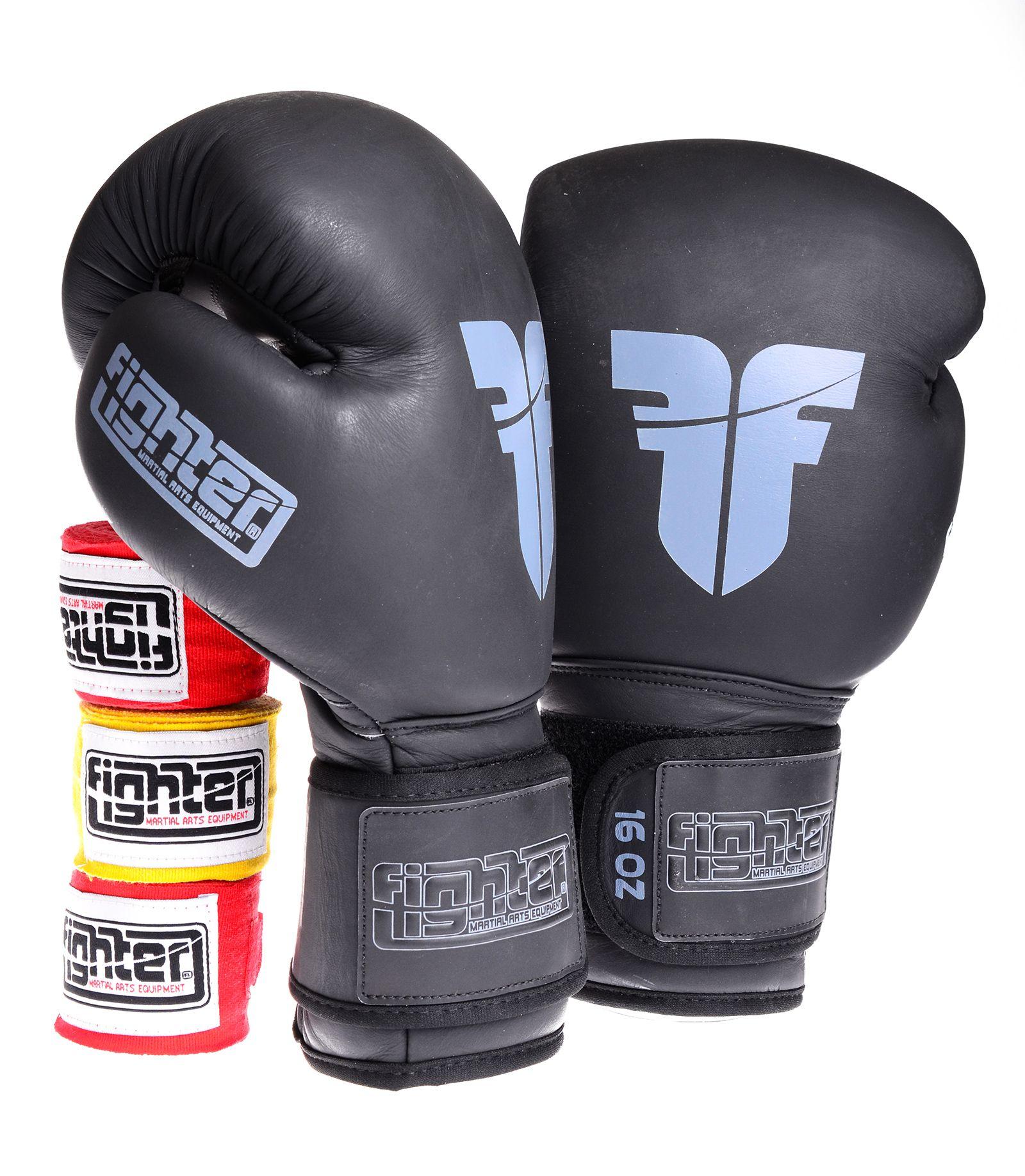 Black Boxing Punching Gloves 16 Oz