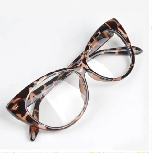 "Photo of ""Boss Chic"" Ladies Leopard  Vintage Clear Frames"