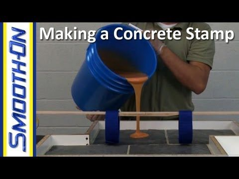 How to Make a Custom Concrete Stamp out of Urethane Rubber - YouTube