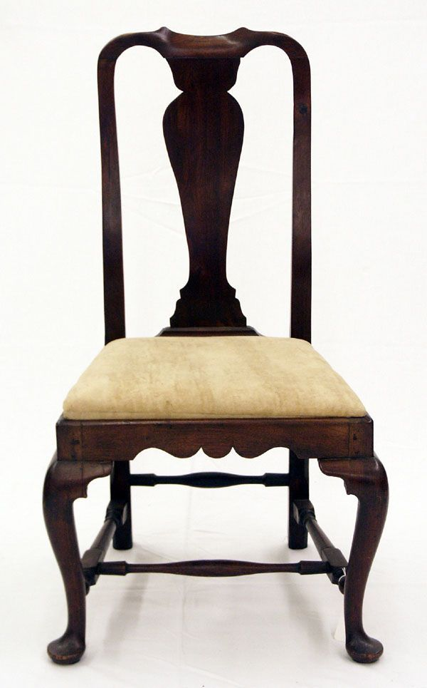 Chapter Queen Anne Fiddle Back Chair- United States - American Period Queen Anne Furniture American-Queen-Anne