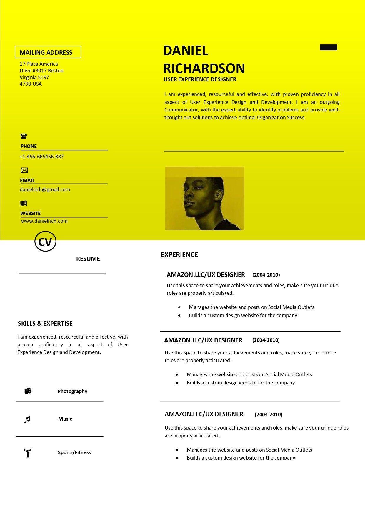 ATS Compliant Resume Word Resume template CV Modern Resume | Etsy