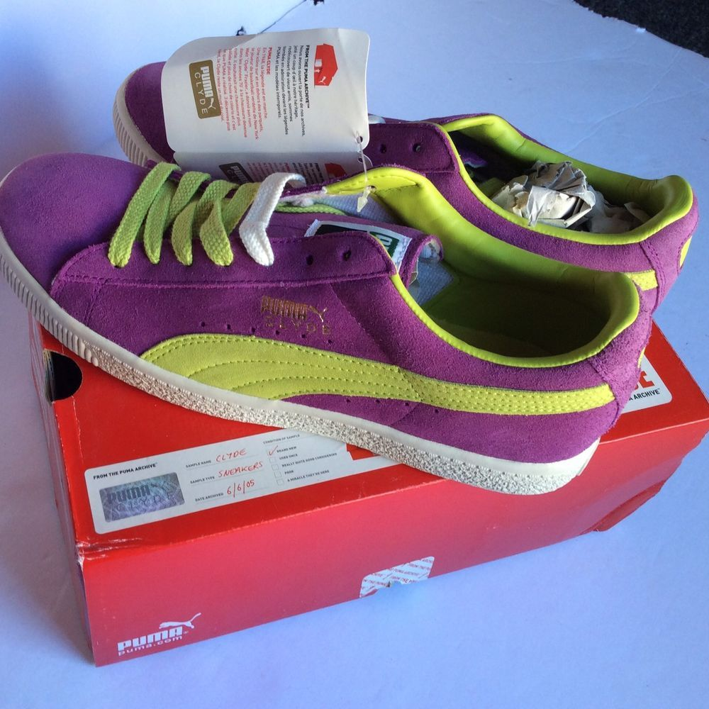 Mens PUMA New with Box Clyde Purple