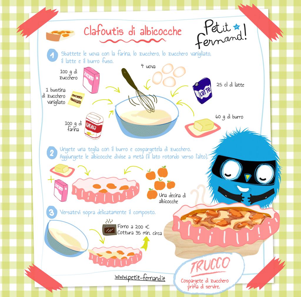 Clafoutis alle albicocche ricette pasti sani e ricette for Nuove ricette cucina
