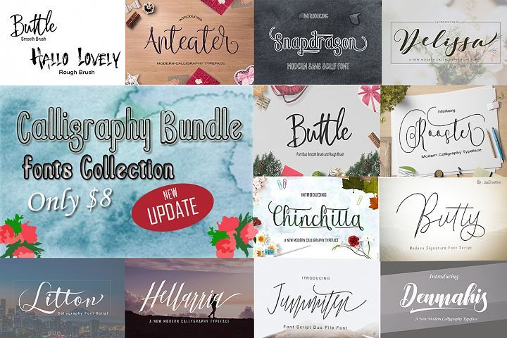 Download Calligraphy Font Bundles (47411) | Script | Font Bundles ...