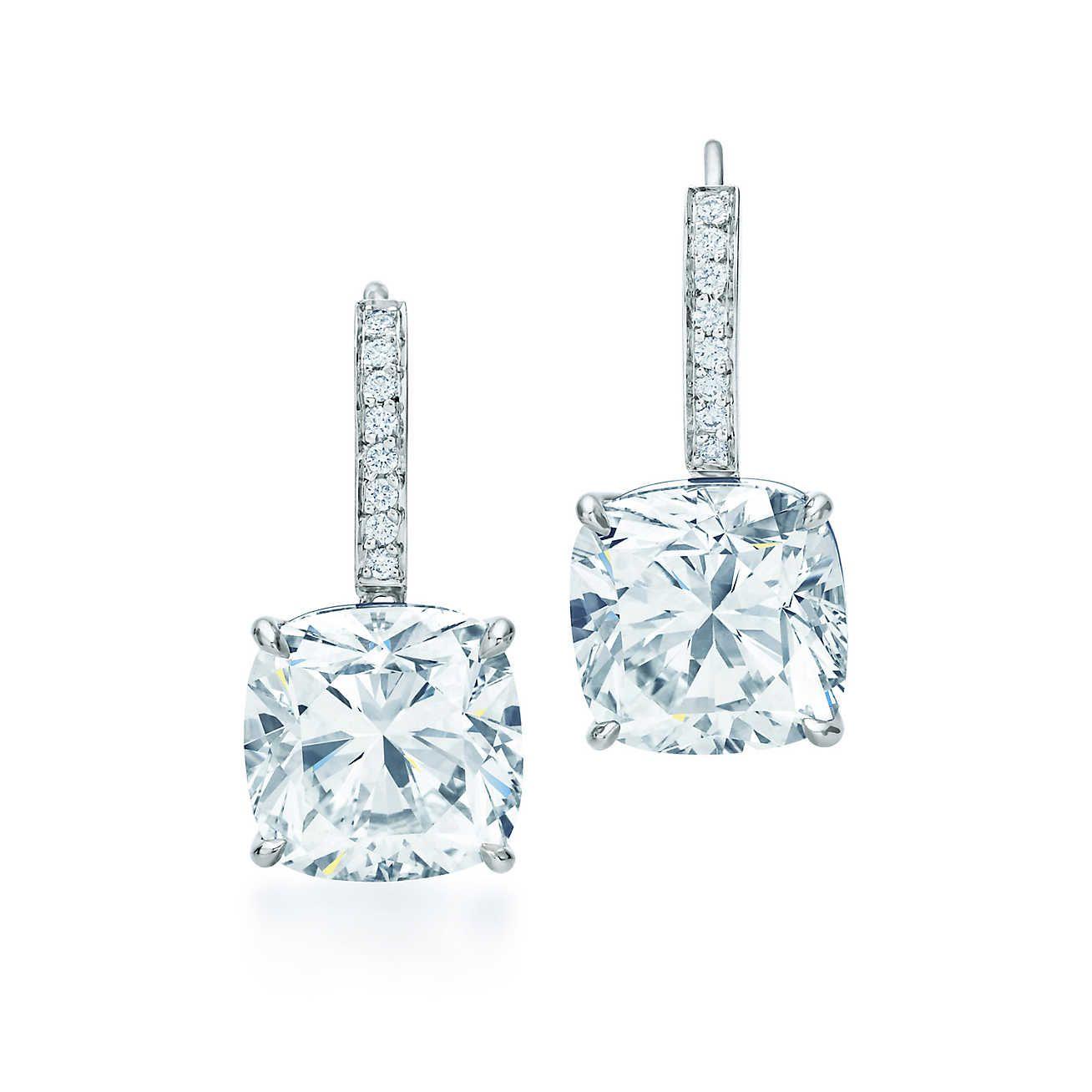 52f6096a57ed6 Tiffany Novo® Diamond Earrings Diamantes, Brillante, Joyas, Estilo,  Pendientes De