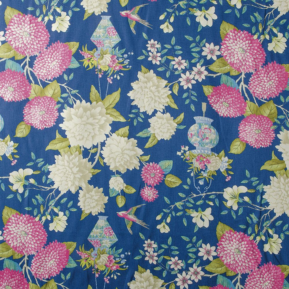 Williamsburg Lightfoot Garden Sapphire 54 Quot Fabric