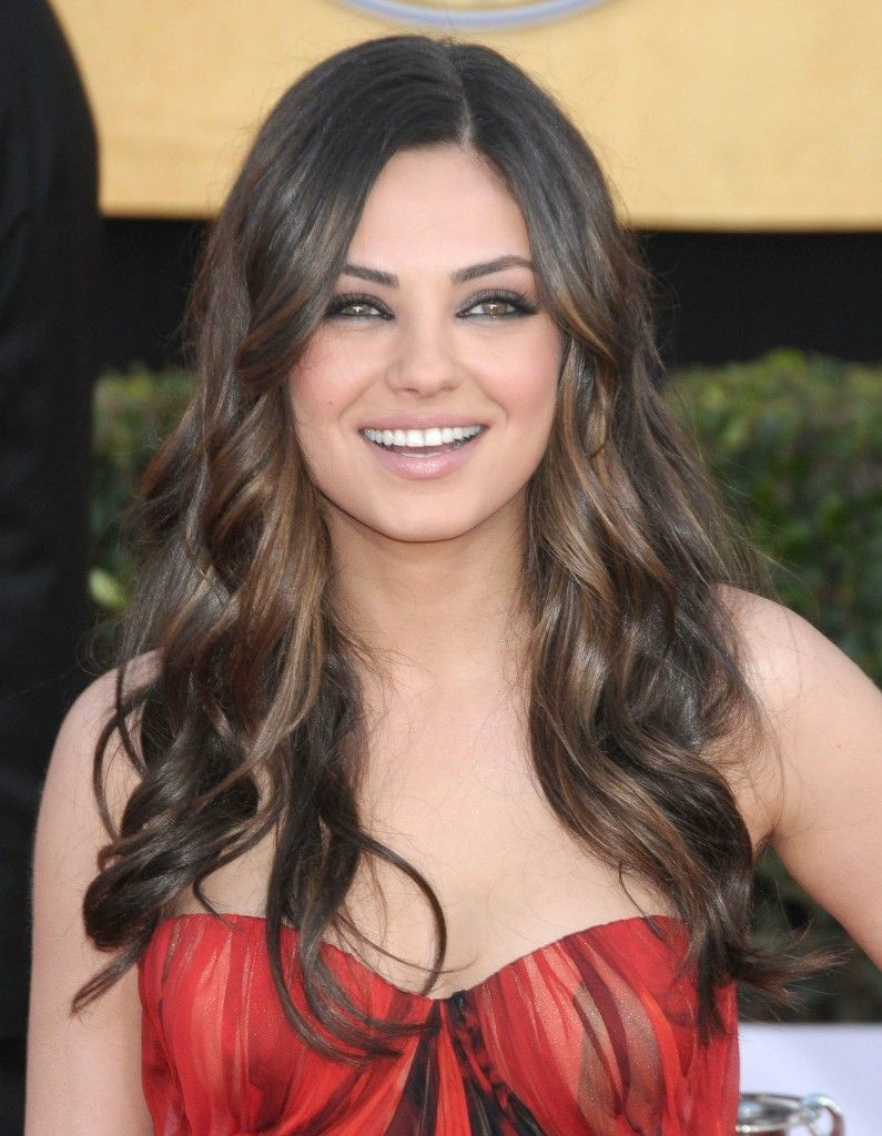 Mila Kunis Chestnut Highlights In Brunette Hair Health And