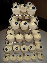 Cupcakes - cream and navy