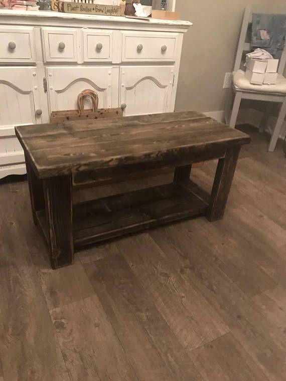Smaller Rustic Custom Built 32 Inch Coffee Table Dorm Size Apartment Ta