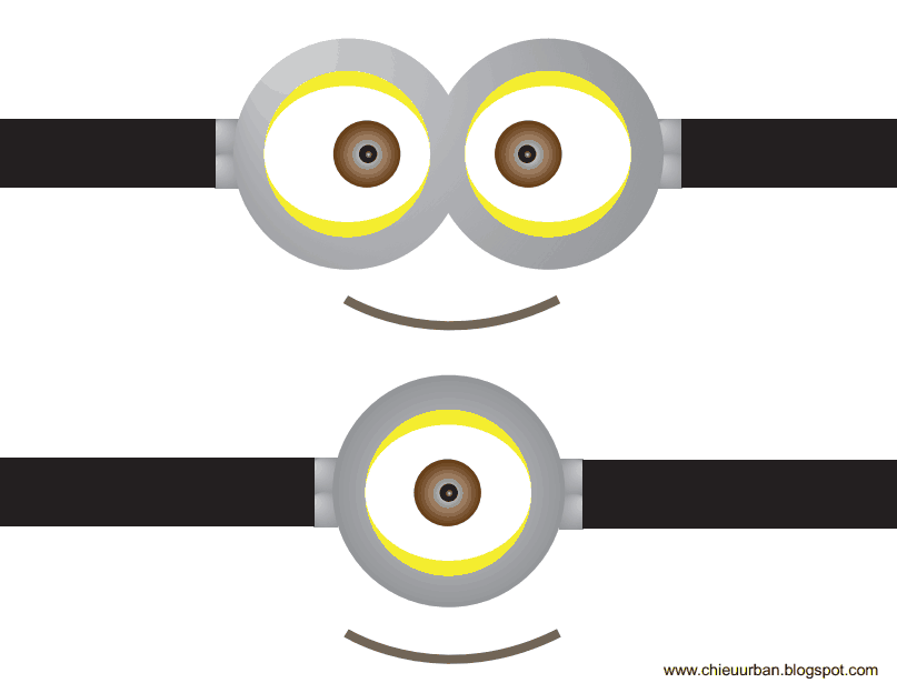 image about Minion Goggles Printable titled Pink Minion Eyes Printable Billy Knight