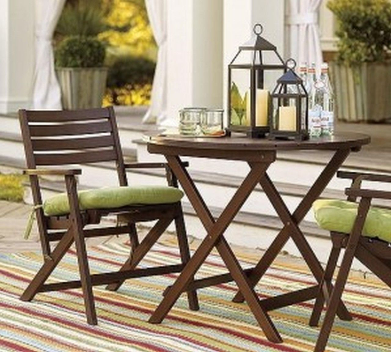 Folding dining table and chair set  Appealing Rustic Patio Furniture Interior Extraordinary Red Patio