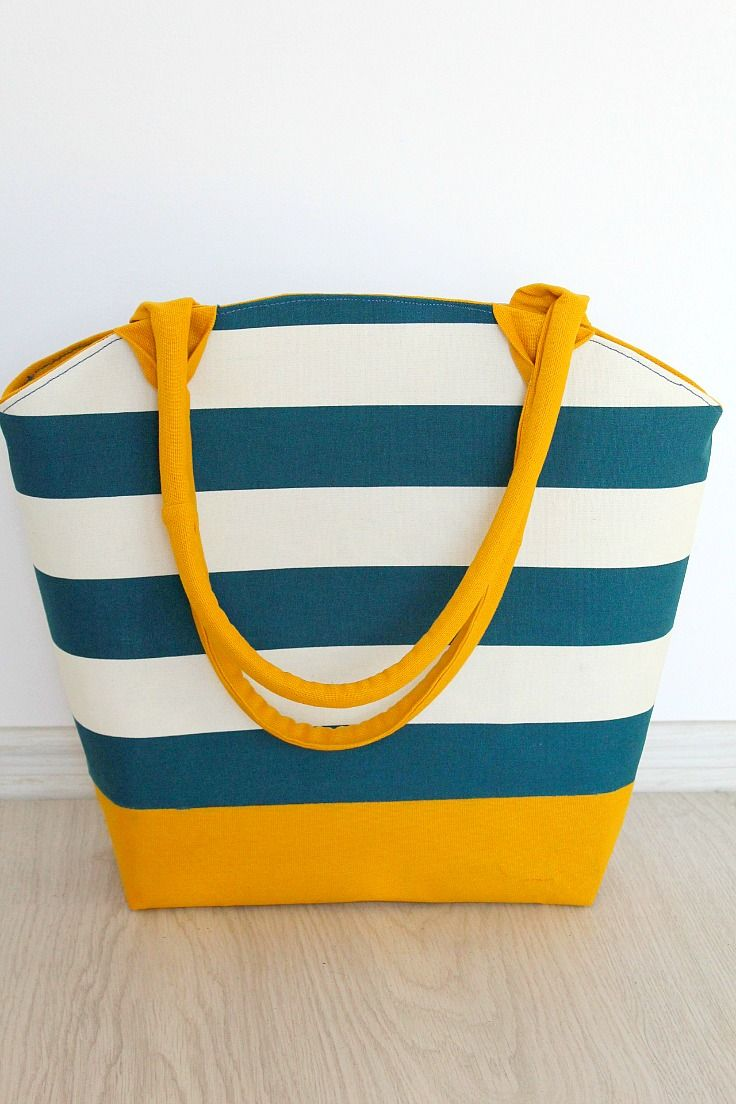 Rounded Top Canvas Tote bag with corded handles | Sew Featured ...