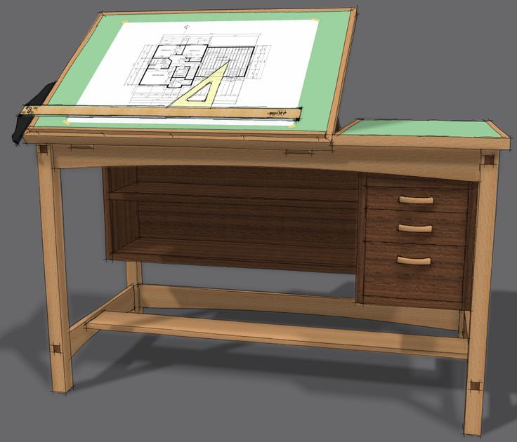 Drafting Tables Free Table Plans Woodworking Project My Old Is Metal And I Wouldn T Take A Million For It Once