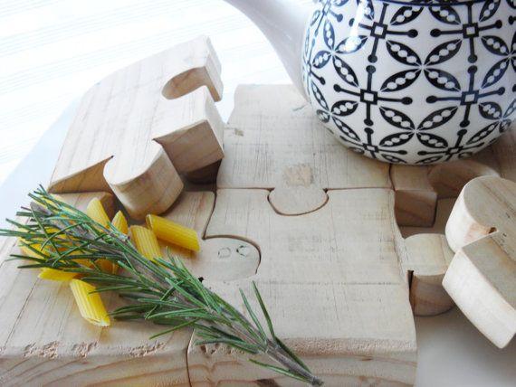 ceder hout Onderzetters Onderzetters puzzel door Lakebranches
