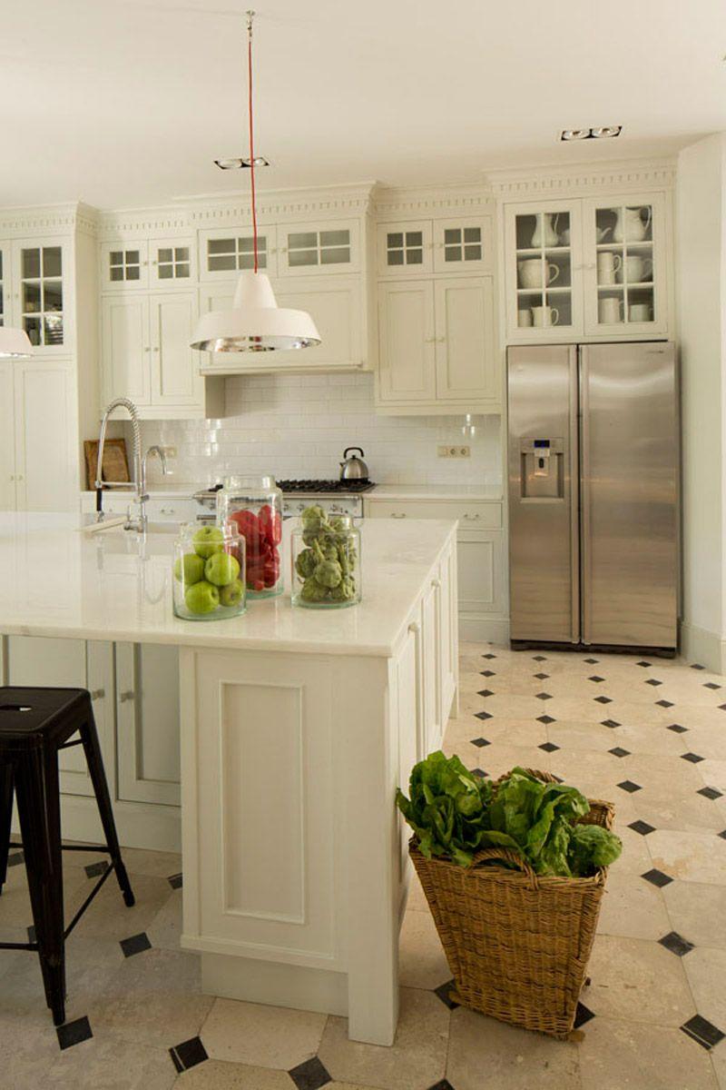 Coordinar gabinete de la cocina piso de madera de color - Isabel L Pez Quesada Projects Cocinas Blancascuartosnavidadhogarpisos