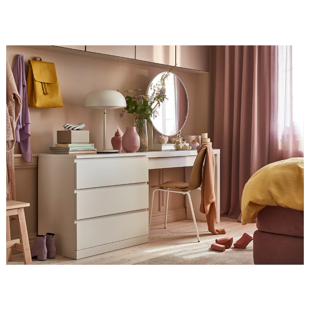 Malm White Chest Of 3 Drawers 80x78 Cm Ikea Ikea Dressing Table Ikea Malm Dressing Table Malm Dressing Table